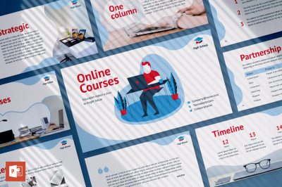 Online Courses PowerPoint Presentation Template
