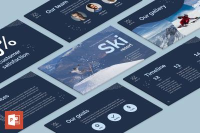 Ski Resort PowerPoint Presentation Template