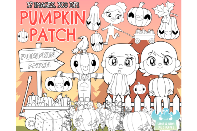 Pumpkin Patch Digital Stamps - Lime and Kiwi Designs