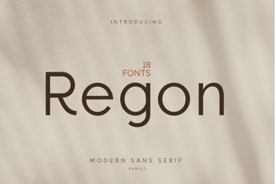Regon Modern Sans Serif Family