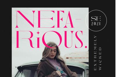 Nefarious - Modern Serif