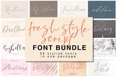 Fresh Style Script Font Bundle