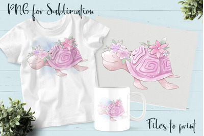 Sea life sublimation. Design for printing.
