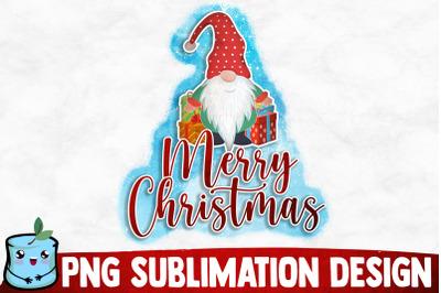 Merry Christmas Gnome Sublimation Design