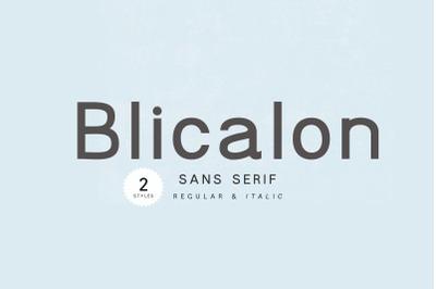 Blicalon - modern sans serif