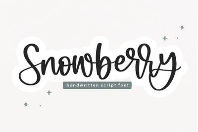 Snowberry | Handwritten Script Font