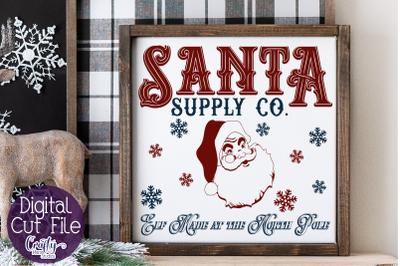 Christmas Svg, Farmhouse Svg, Santa Supply Company Cut File
