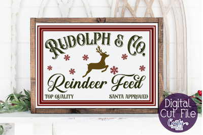 Christmas Svg, Farmhouse Svg, Reindeer Feed, Christmas Deer