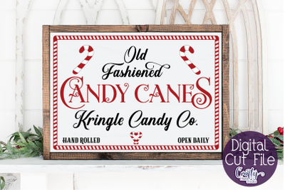 Christmas Svg, Farmhouse Svg, Old Fashioned Candy Canes File
