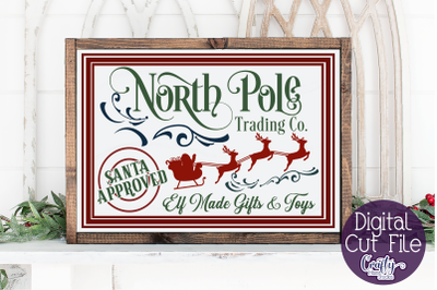 Christmas Svg, Farmhouse Svg, North Pole Trading Company