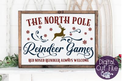 Christmas Svg, Farmhouse Svg, North Pole Reindeer Games File