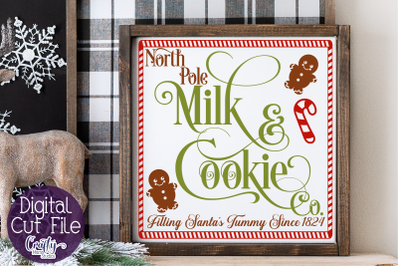 Christmas Svg, Farmhouse Svg, Milk And Cookie Company File