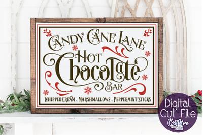 Christmas Svg, Farmhouse Svg, Hot Chocolate Bar Cut File