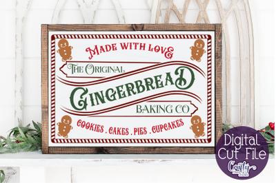 Christmas Svg, Farmhouse Svg, Gingerbread Baking Co Cut File