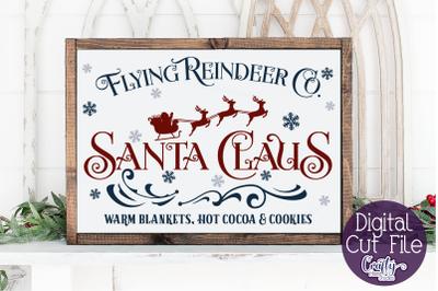 Christmas Svg, Farmhouse Svg, Flying Reindeer Co Cut File