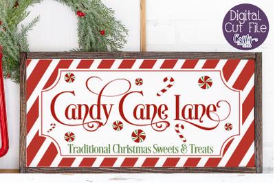 Christmas Svg, Farmhouse Svg, Candy Cane Lane Cut File