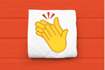 Clapping Hands Emoji | Applique Embroidery