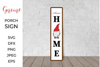 Gnome Porch Sign. Welcome home. Christmas Front Sign.