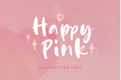 Happy Pink - Handwritten Font