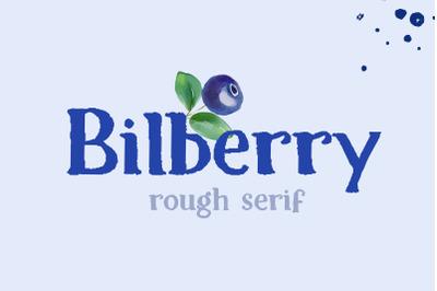 Bilberry rough serif font