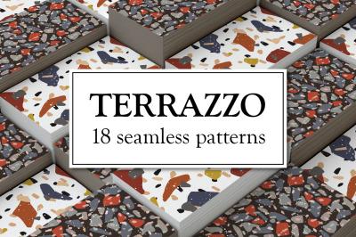 Terrazzo. Seamless patterns