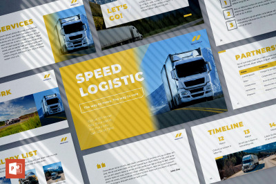 Trucking Logistics PowerPoint Presentation Template