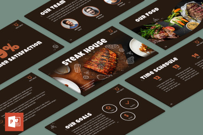 Steak House PowerPoint Presentation Template