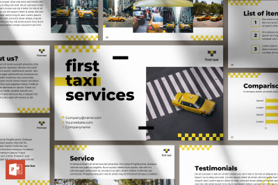 Taxi Services PowerPoint Presentation Template