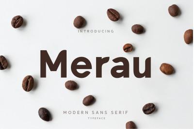 Merau Modern Sans Serif Typeface