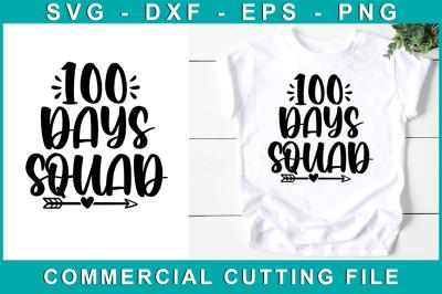 100 Days Squad, School Svg
