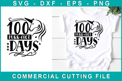 100 Purr-fect Days, School Svg