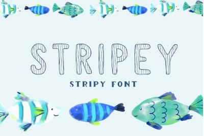 Stripey - display stripy font