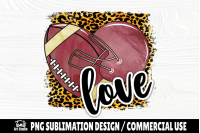 Love Football PNG, Sublimation Png, Shirt Design