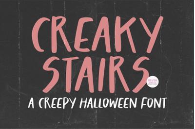 CREAKY STAIRS Halloween Font