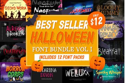 Best Seller Halloween Font Bundle Vol. I