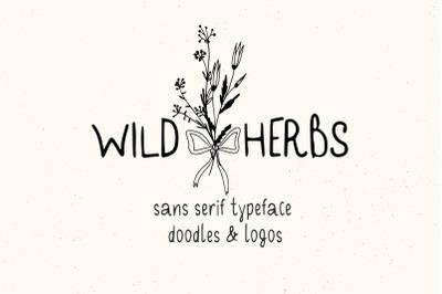 Wild Herbs Rustic Font Doodles Logos