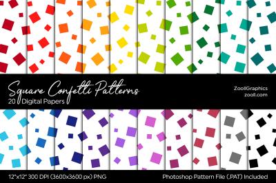 Square Confetti Digital Papers