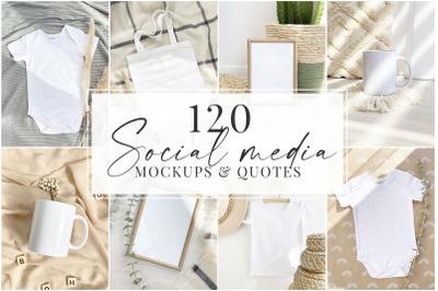 Social media mockups & quotes