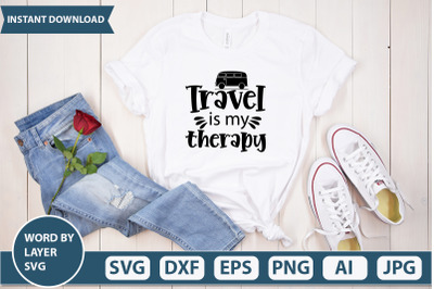 Travel Is My Therapy svg cut file