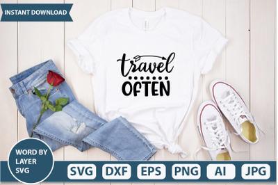 travel often svg cut file