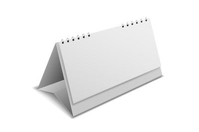 Calendar blank mockup. Desktop office clean realistic organizer with s