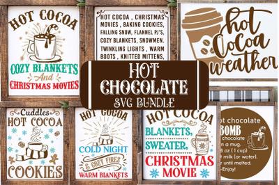 Hot chocolate SVG Bundle, Christmas Svg, Cocoa Bar Sign