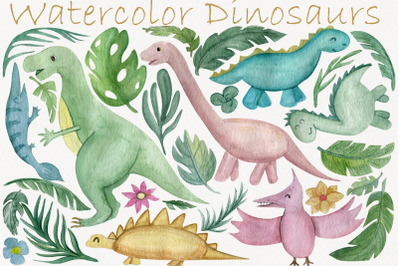 Neutral dinosaur clipart, Palm leaves, Tropical clip art