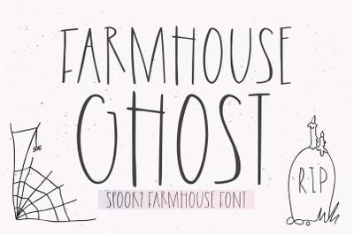 FARMHOUSE GHOST Halloween Font