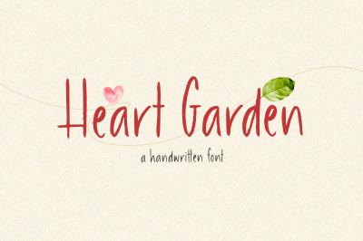 Heart Garden - A Handwritten Font