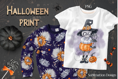Halloween Skeleton sublimation. Design for printing.