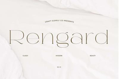 Rengard - Modern Serif Typeface