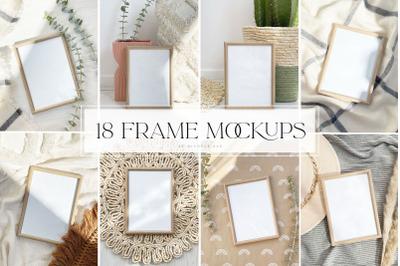 Frame mockups, template, social media