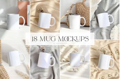 Mug mockups, template, social media