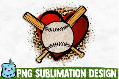 Baseball Heart Sublimation Design